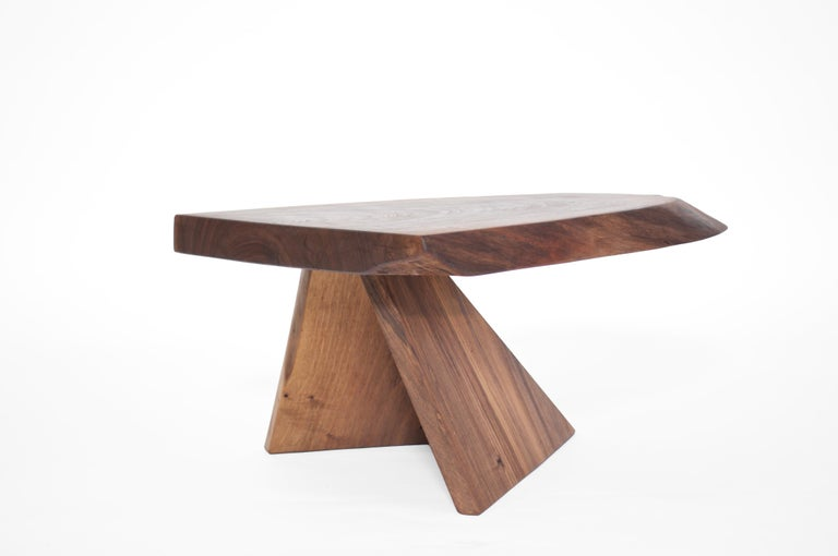 Contemporary Unique Walnut Signed Table by Jörg Pietschmann For Sale