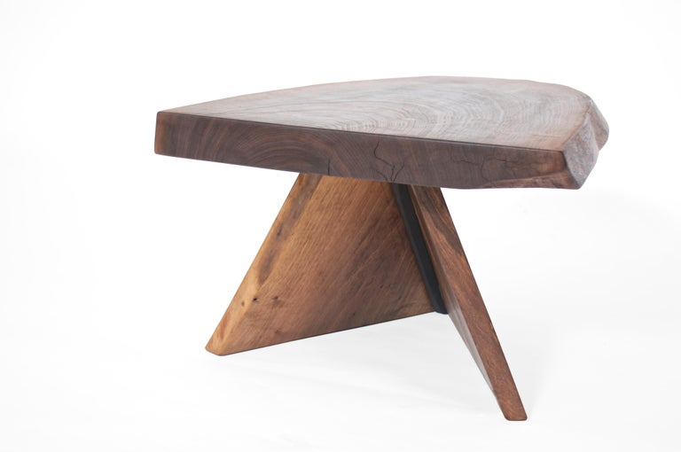 Unique Walnut Signed Table by Jörg Pietschmann For Sale 1