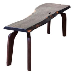 Unique Walnut Signed Table by Jörg Pietschmann