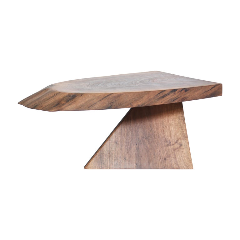 Unique Walnut Signed Table by Jörg Pietschmann For Sale