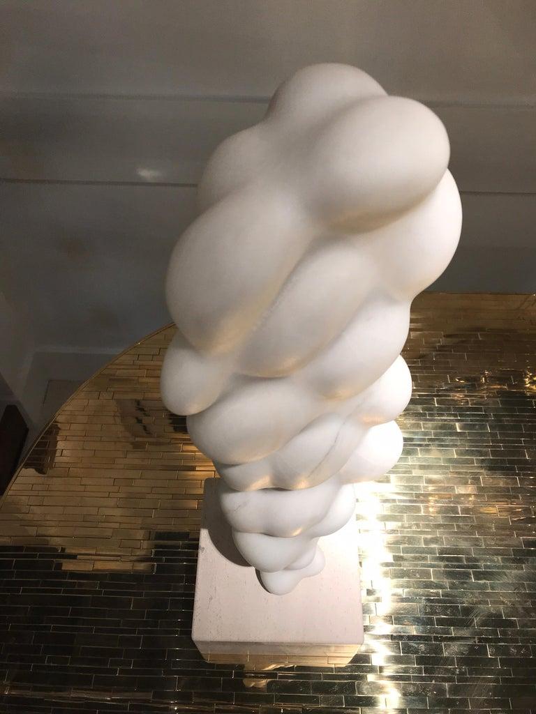 Late 20th Century Unique White Marble Sculpture For Sale