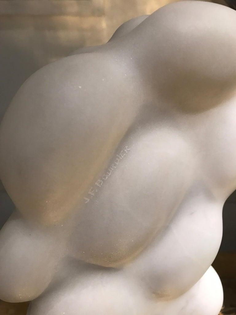 Unique White Marble Sculpture For Sale 3