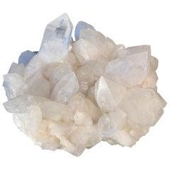 """Unique White Quartz Crystal """"Druze"""" by Demian Quincke"""