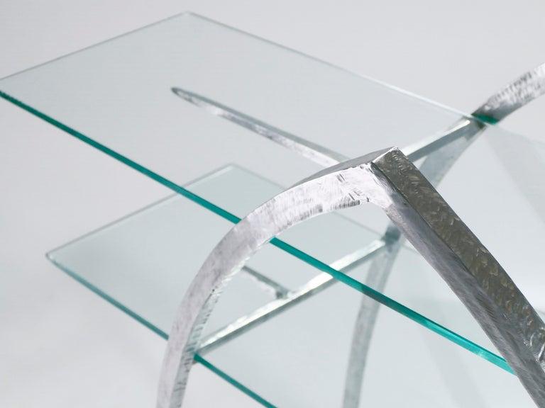Unique Wrought Iron and Glass Console, circa 2000 For Sale 1