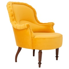Unique Yellow Mustard Armchair, 1930s, Germany