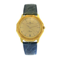 Unisex Baume & Mercier Riviera 87012 18 Karat Yellow Gold Quartz Watch