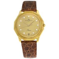 Unisex Baume & Mercier Riviera 87012.1 18 Karat Gold Diamond Quartz Watch