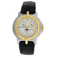 Unisex Bertolucci Pulchra Calendar Moon Steel Gold Quartz Watch