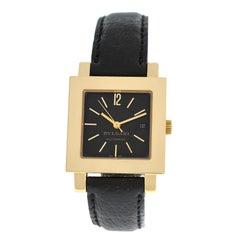 Unisex Bvlgari Bulgari Quadrato SQ 29 GL AUTO 18 Karat Gold Watch