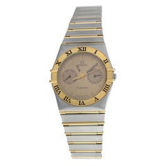 Unisex Omega Constellation 3961070 Steel 18 Karat Gold Full Bar Quartz Watch