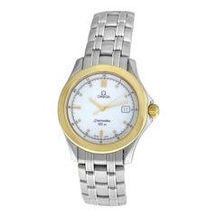 Unisex Omega Seamaster 196.1501 396.1501 120M Gold Steel Quartz Watch