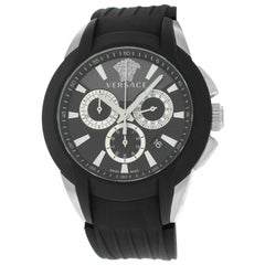 "Unisex Versace ""Character"" M8C99D008 S009 Steel Chrono Quartz Watch"
