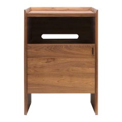 Unison for Sonos Vinyl Record Storage Stand in Natural Walnut