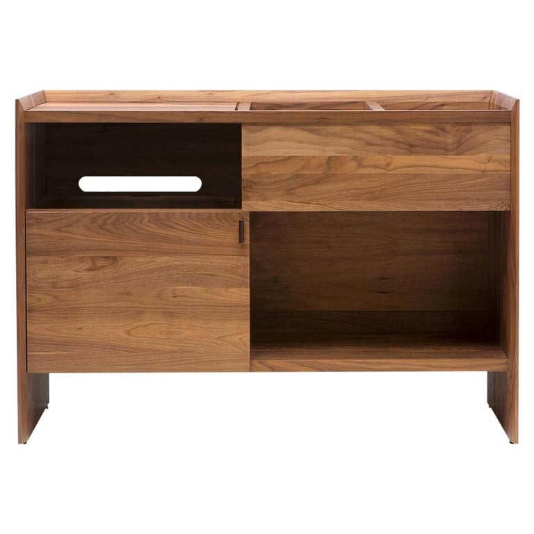 Unison for Sonos Vinyl Record Storage Stand in Natural Walnut For Sale