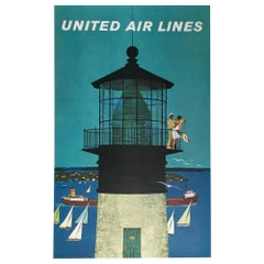 United Air Lines 1960s Travel Poster, Stan Galli