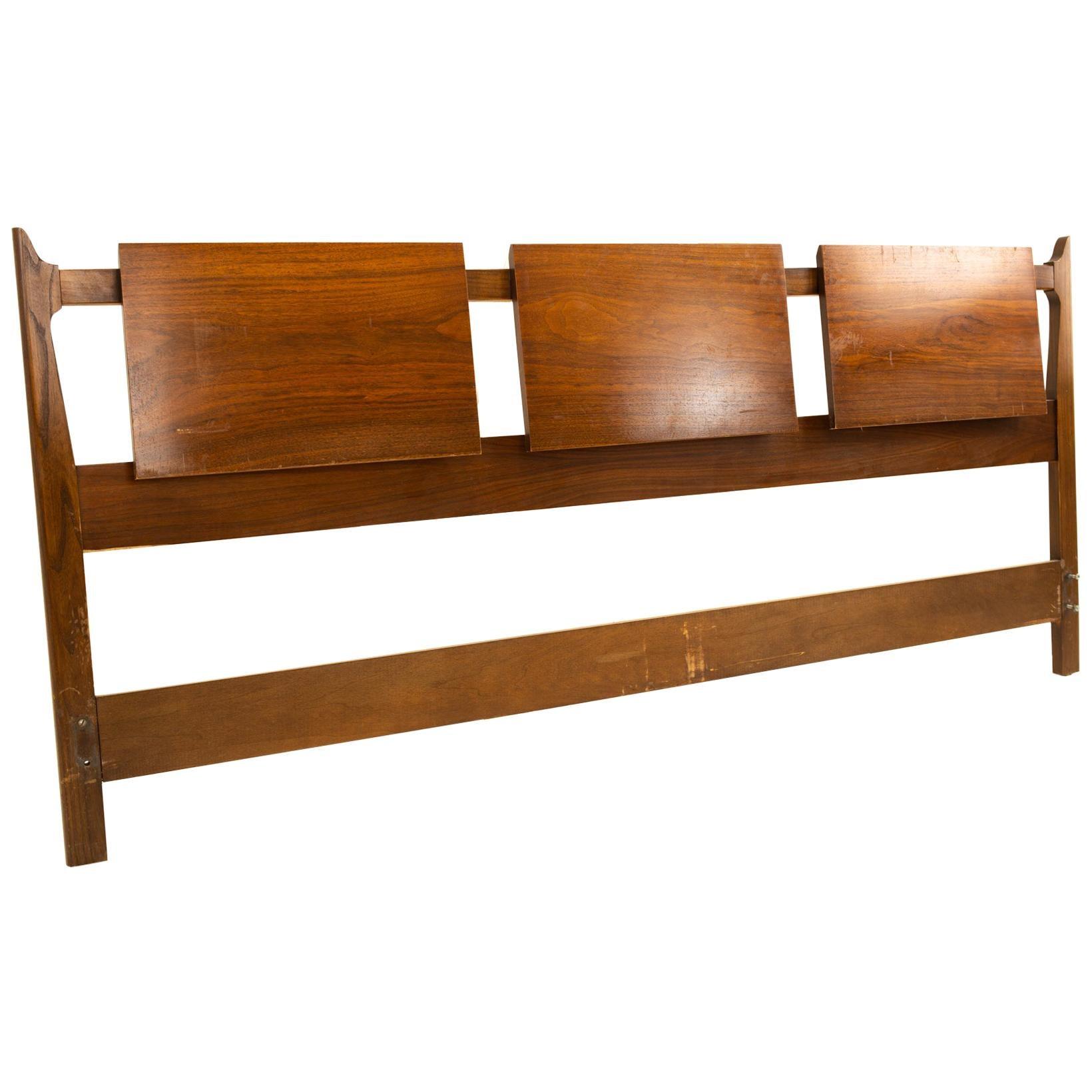 United Furniture Mid Century Walnut King Headboard