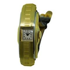 Universal 18 Karat Two-Tone Covered Lid Ladies Watch Handmade