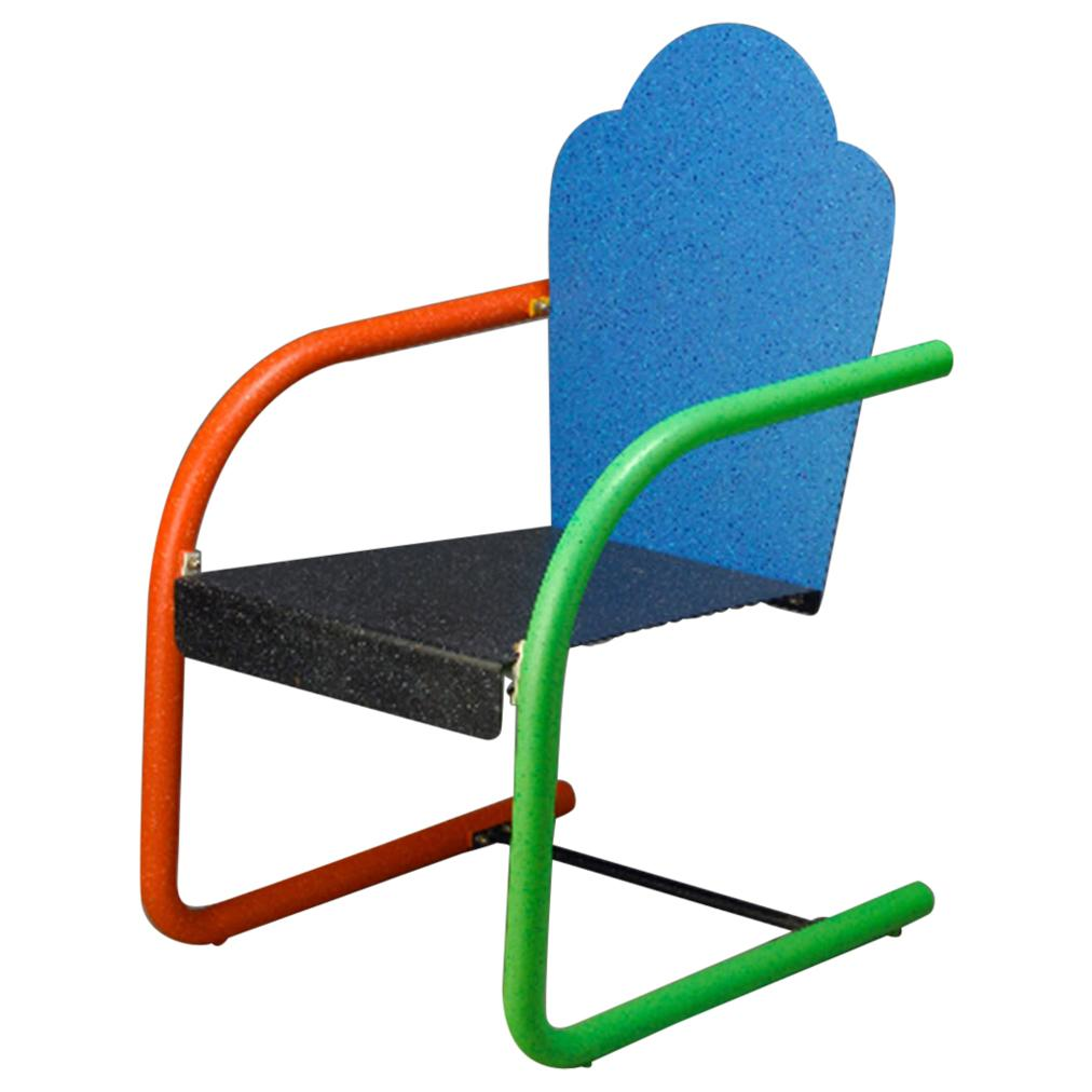 'Universal' Chair 'Blue & Black' by Peter Shire, 1994
