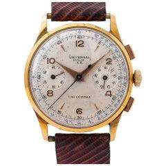 Universal Genève 12445 Uni-Compax Chronograph Manual Vintage 18 Karat Rose Gold