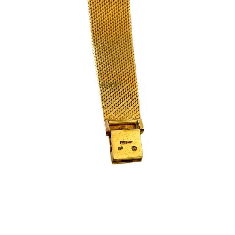 Vintage Universal Geneve 18 Karat Yellow Gold Wristwatch 1960s 2