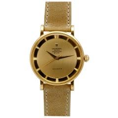 Universal Geneve Polerouter De Luxe Ref B10234 1 Yellow Gold Wristwatch c. 1950