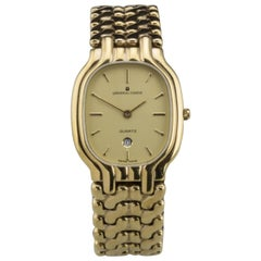 Universal Geneve Quartz Gold Toned Wristwatch