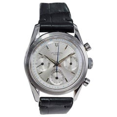 Universal Geneve Stainless Steel Doctors Pulsation Chronograph Manual Watch