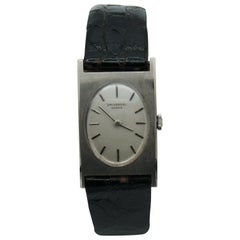 Universal White Gold 18 Karat Watch Black Leather