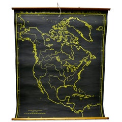 "University Chart ""Black Map of North America"
