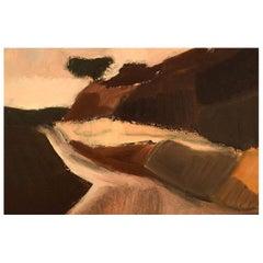 Unknown Artist, Oil on Board, Modernist Landscape, 1960s