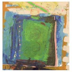 Unknown Artist, Oil Painting, Abstract Composition, 1980s