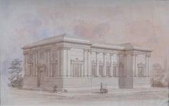 Original artwork for Illustrated London News of Wolverhampton School of Art