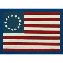 13 Star Hand-Painted Wood Slat American Flag