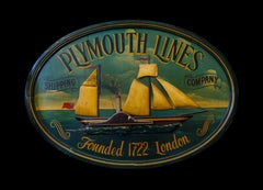 A Plymouth lines shipping sign, second half of the 20th Century