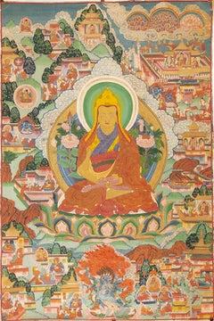 Ancient Tibetan Tangka - Late 19th Century