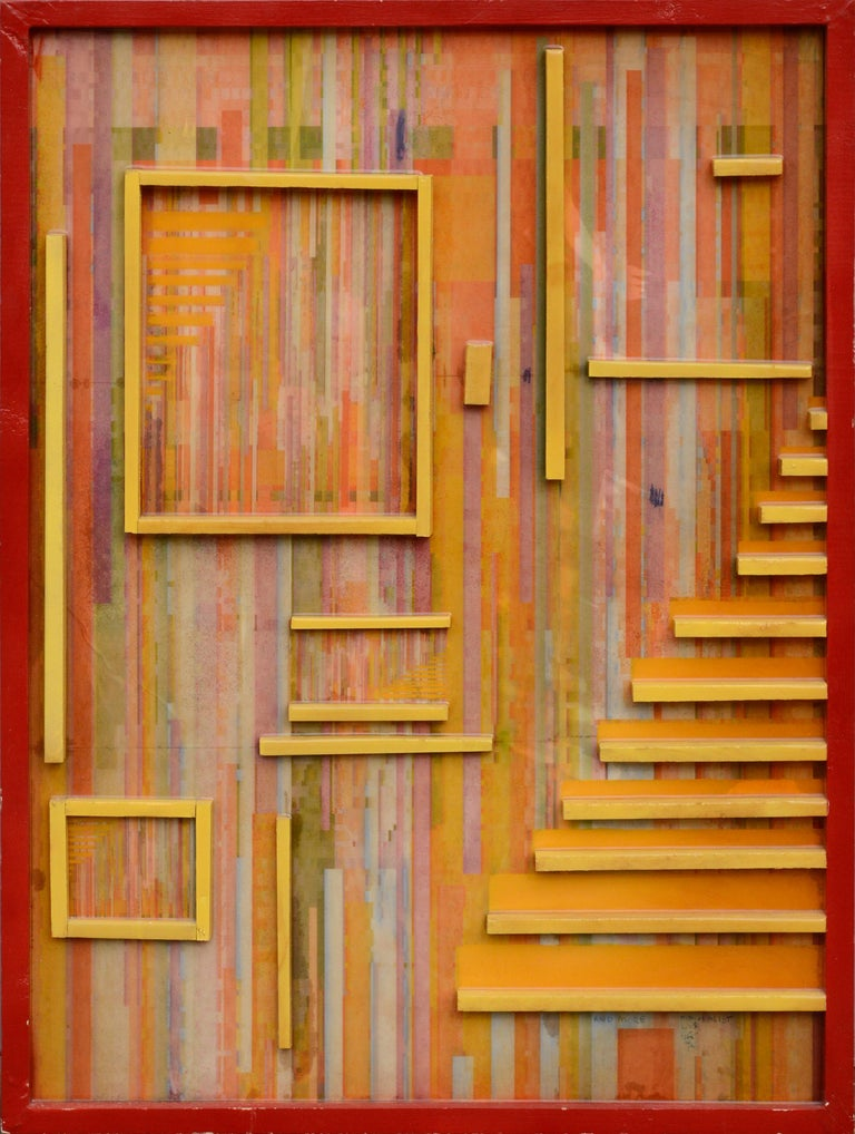 """Unknown Abstract Sculpture - """"And More Minimalist Lies"""" Abstract Geometric Composition"""