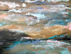At The Mouth of The Bay Original, mixed media signed interiors excellent art