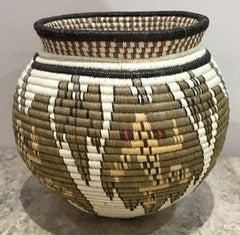 Basket, Tree Frogs, Wounaan Tribe, Panama, Darien Rainforest, green, white, etc