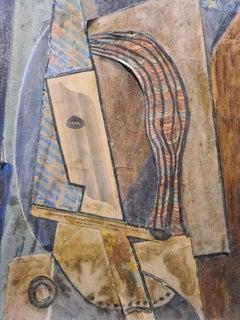 Belgian Avant-Garde Cubist Collage, follower of Kurt Schwitters.
