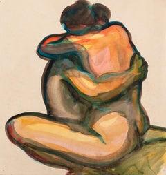 Couple - Original Watercolor - 1950 ca.