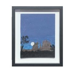 Cut Paper Desert Arizona / New Mexico Night Landscape