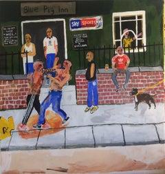 Ewan Keenan - Pub Brawl - 2017 - Acrylic - Street Art - Millennial - Basquiat