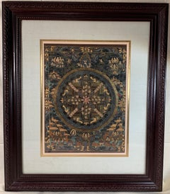 Framed Original Thangka Painting on canvas With 24 Karat Real Gold