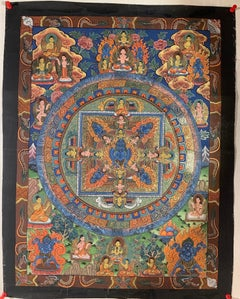 Hand Painted on Canvas with 24 Karat Gold Thangka