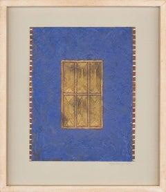 Helyne Jennings - Framed 1989 Mixed Media, Gold Windows