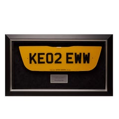 James Bond 'Die Another Day' Aston Martin Vanquish Number Plate Display -Pop Art