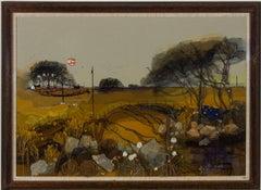 Liz Duncan - Framed 20th Century Mixed Media, Autumn Sunset