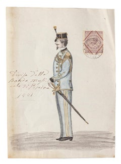 Musical Uniform - Original Painting in Mixed Media - 1881