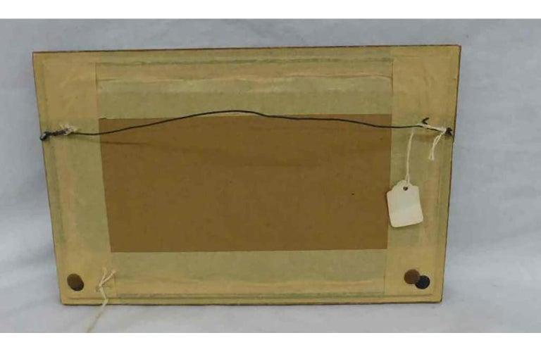 Framed silk image, Stevengraph; Landing of Columbus, 1893 Columbian Exposition