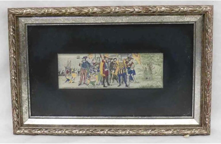 STEVENGRAPH Landing of Columbus 1893 Columbian Exposition - Mixed Media Art by Unknown